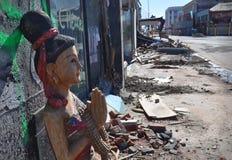克赖斯特切奇地震曼彻斯特祷告街道 库存图片