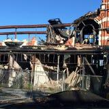 从克赖斯特切奇地震,新西兰的损伤 免版税库存照片