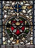 克赖斯特切奇大教堂污迹玻璃窗 免版税库存照片