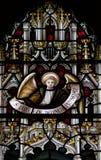 克赖斯特切奇大教堂污迹玻璃窗 免版税图库摄影