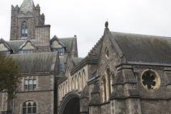 克赖斯特切奇大教堂,一个重要天主教会在都伯林 免版税库存照片