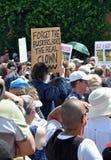 克赖斯特切奇市议会抗议者 库存图片
