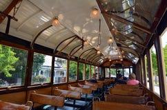 克赖斯特切奇电车轨道电车系统-新西兰 库存照片
