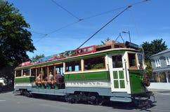克赖斯特切奇电车轨道电车系统-新西兰 免版税图库摄影
