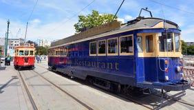 克赖斯特切奇电车轨道电车系统-新西兰 图库摄影