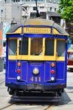 克赖斯特切奇电车轨道电车系统-新西兰 免版税库存照片