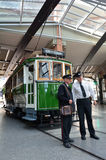 克赖斯特切奇电车轨道电车系统-新西兰 免版税库存图片