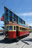 克赖斯特切奇电车轨道电车系统-新西兰 库存图片