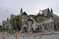 克赖斯特切奇cranmer地震正方形 图库摄影