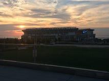 克里夫兰布朗队& x28; 第一Energy& x29;体育场 没有蓝色色彩3 库存照片