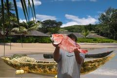克里奥尔人的渔夫早晨村庄 免版税图库摄影