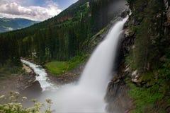 克里姆尔瀑布看法  库存图片