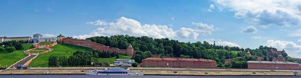 克里姆林宫全景河视图 库存照片