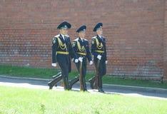 克里姆林宫卫兵从义务回来 免版税库存图片