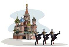 克里姆林宫和俄国战士 免版税库存照片