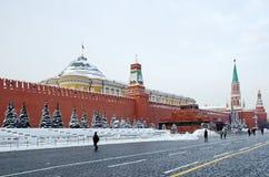 克里姆林宫和红场在莫斯科,俄罗斯 库存照片