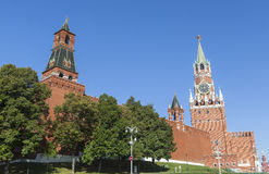 克里姆林宫和红场在莫斯科 库存照片