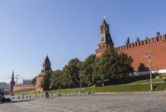 克里姆林宫和红场在莫斯科 免版税库存照片