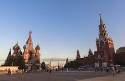克里姆林宫和红场在莫斯科 库存图片