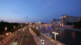 克里姆林宫和莫斯科河,莫斯科,俄罗斯的看法--莫斯科普及的见解  股票录像