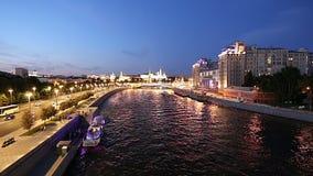 克里姆林宫和莫斯科河,莫斯科,俄罗斯的看法--莫斯科普及的见解  影视素材
