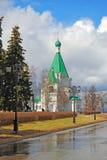 克里姆林宫在下诺夫哥罗德,俄罗斯 迈克尔天使大教堂 免版税库存照片