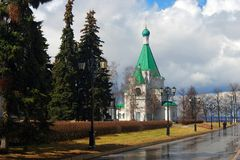 克里姆林宫在下诺夫哥罗德,俄罗斯 迈克尔天使教会 免版税库存图片