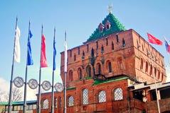克里姆林宫在下诺夫哥罗德,俄罗斯 免版税图库摄影