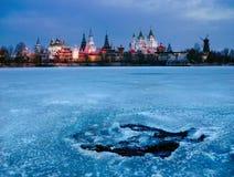 克里姆林宫在日出的Izmaylovo 莫斯科俄国 库存照片