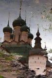 克里姆林宫在罗斯托夫,俄罗斯 水反映 免版税库存图片