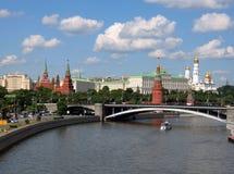 克里姆林宫在莫斯科的中心 免版税库存照片