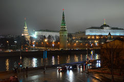 克里姆林宫在莫斯科,俄罗斯, 免版税图库摄影