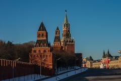 克里姆林宫在莫斯科 免版税库存图片