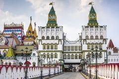 克里姆林宫在Izmailovo在莫斯科,俄罗斯 免版税库存图片