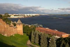 克里姆林宫在Nizhny Novgorod 图库摄影