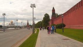 克里姆林宫堤防在莫斯科 股票视频