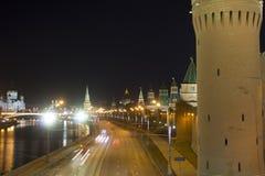 克里姆林宫堤防 俄国 莫斯科 库存照片