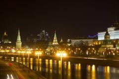 克里姆林宫堤防 俄国 莫斯科 免版税库存照片