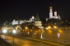 克里姆林宫堤防 俄国 莫斯科 免版税图库摄影