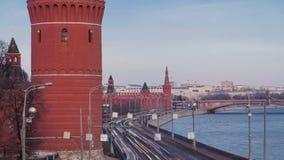 克里姆林宫堤防-近莫斯科河堤防 影视素材
