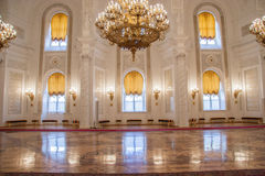 克里姆林宫宫殿的Georgievsky霍尔 免版税图库摄影