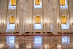 克里姆林宫宫殿的Georgievsky霍尔 免版税库存照片