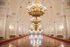 克里姆林宫宫殿的Georgievsky霍尔 库存照片