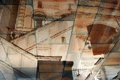 克里姆林宫教会 抽象反映水 彩色照片 库存照片