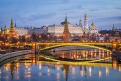 克里姆林宫早晨莫斯科 免版税库存图片