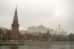 克里姆林宫是被加强的复合体在莫斯科的中心 库存照片