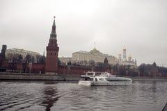 克里姆林宫是被加强的复合体在莫斯科的中心 免版税库存图片
