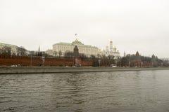 克里姆林宫是被加强的复合体在莫斯科的中心 免版税库存照片
