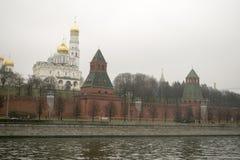 克里姆林宫是被加强的复合体在莫斯科的中心 图库摄影