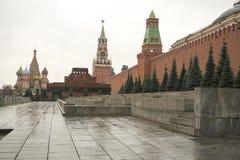 克里姆林宫是被加强的复合体在莫斯科的中心 库存图片